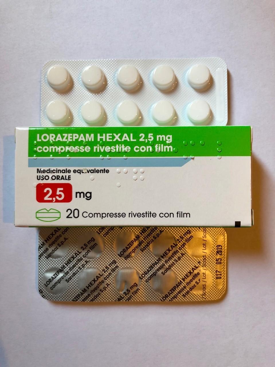 Lorazepam Hexal 2.5mg Brand T