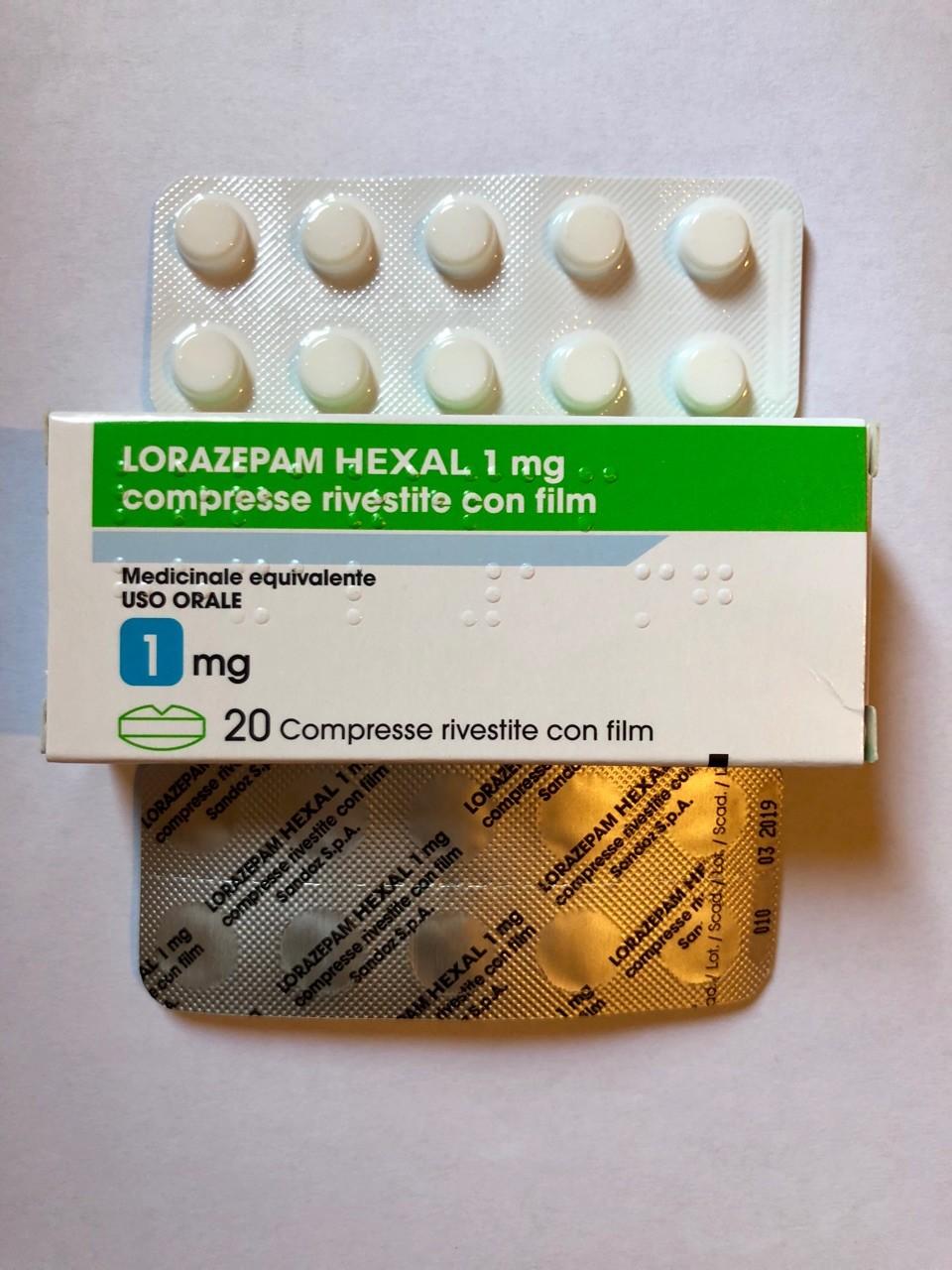 Lorazepam (Ativan) 1 mg Original