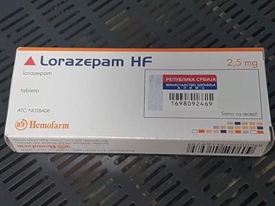 Lorazepam (Ativan) 2.5 mg Original