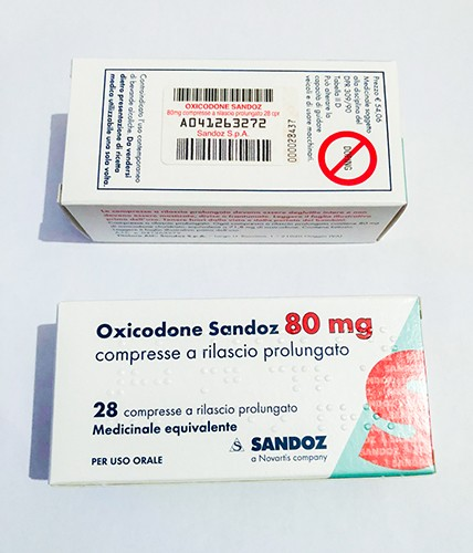 Oxycodone 80 mg by Sandoz